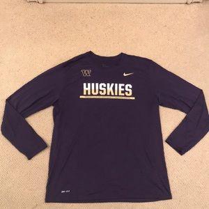 Nike Washington Huskies Team Issued DriFit T-shirt